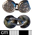 Post-medieval cufflink from NHER9270  © Norfolk County Council