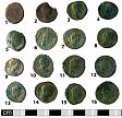 Roman coin hoard obv. from NHER 41008  © Norfolk County Council