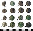 Roman coin hoard (obv.) from NHER 41008  © Norfolk County Council