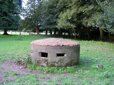 A rare example of a World War Two circular 'Norcon' pillbox.