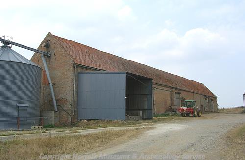 The 18th century brick barns at Great Barn Farm