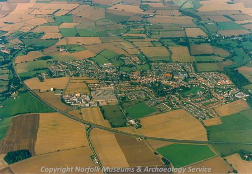 Harleston from the air.
