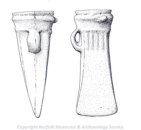 A Bronze Age hoard found in Hevingham included this socketed axehead