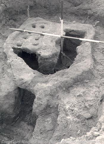 Roman kiln 3. One of five excavated in the 1950s.