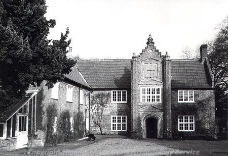 South facade of Holverston Hall.