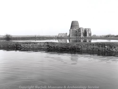 Gatehouse of St Benet's Abbey taken from the river.