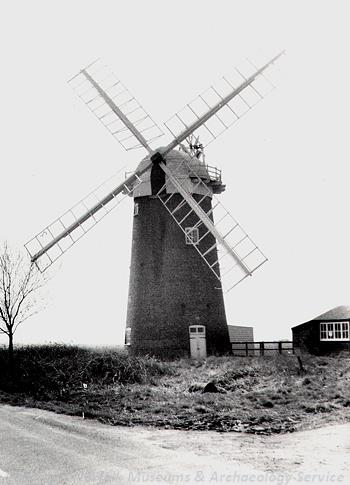 View of Horsey drainage mill pre restoration.