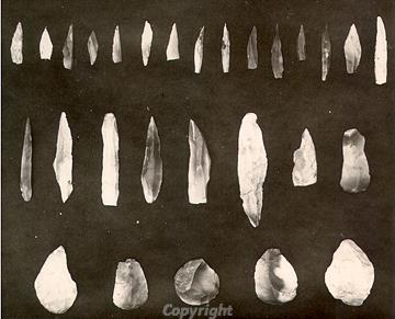 Mesolithic flints found during 1920s excavations
