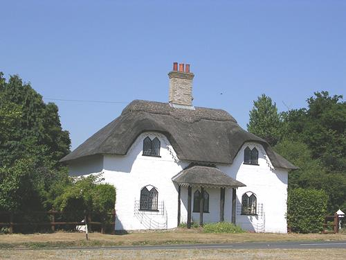 An early 19th century lodge in the style of a cottage ornee