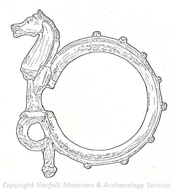 Iron Age bridle bit in the figure of a horse.