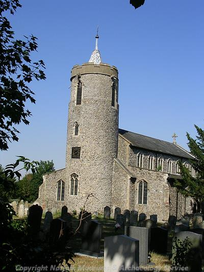 St Mary's Church has a 12th century round tower.