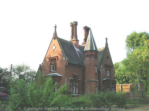 A late 19th century Gothick style lodge to Morton Hall