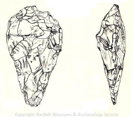 Palaeolithic handaxe.