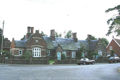 The almshouses on Castle Hill Road were built in the late 19th century