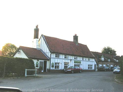 The Waterside Inn. Timber framed building dating to about 1500.