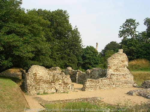 Ruins of chapel/manor house at North Elmham.