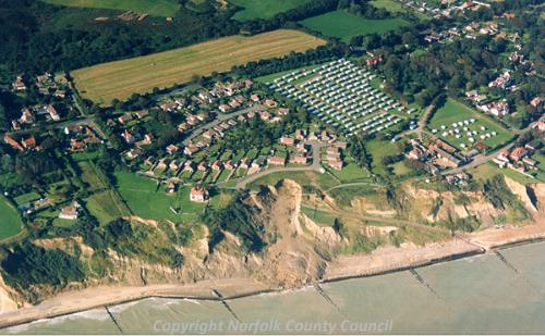 An aerial photograph of Overstrand