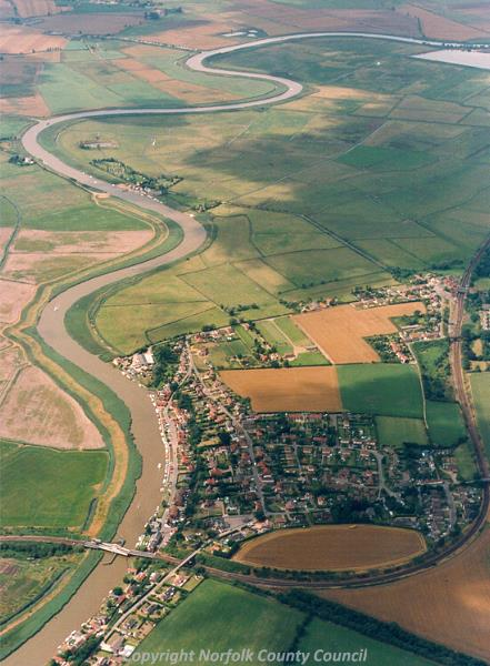 Aerial photograph of Reedham.
