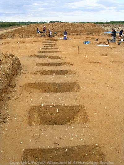 Excavations by SHARP on the site of a Roman farm.