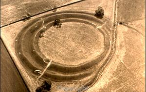 Earthworks of Iron Age hillfort.