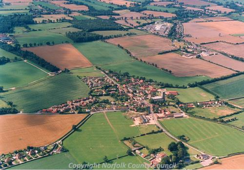 Worstead from the air. Photograph by BKS.