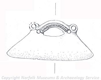 Illustration of a Late Bronze Age or Early Iron Age razor.