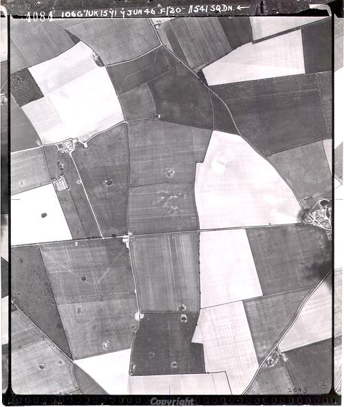 Aerial photograph of a possible Roman enclosure in Choseley