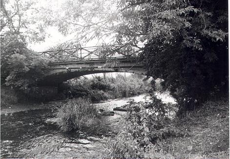 Photograph of Homersfield Bridge built in 1869 by the Adair family of Flixton Hall.