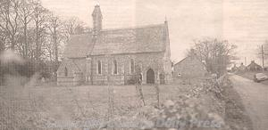 Photograph of St Mary's Church, Bagthorpe, which was rebuilt in Early English style in the 1850s.