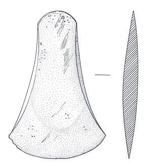 A Bronze Age flat axehead found on Barnham Broom golf course.