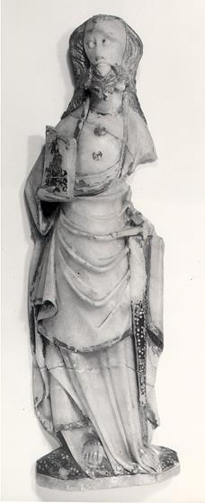 15th century alabaster figurine of St Paul from Bergh Apton