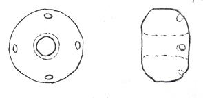 Drawing of a Saxon spindle whorl found in Dickleburgh.