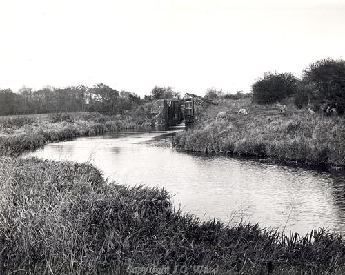 Photograph of Dilham and North Walsham canal showing Bacton Wood Lock.
