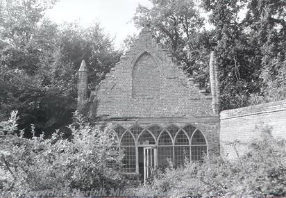 Photograph of the Gothick summerhouse in the ground of FIlby House.