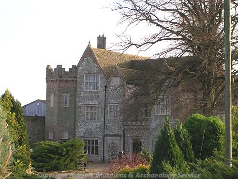 Photograph of Fincham Hall, a late 16th century building with extensive 19th century restoration.