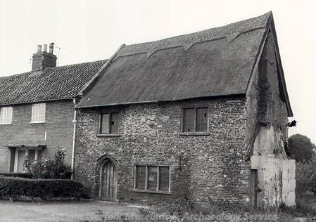 Photograph of the brewhouse of St Olaves Priory. The rest of this small Augustinian Priory is now in ruins. It was founded in about 1216, and named after the patron saint of Norway. The priory was dissolved in the 1530s.