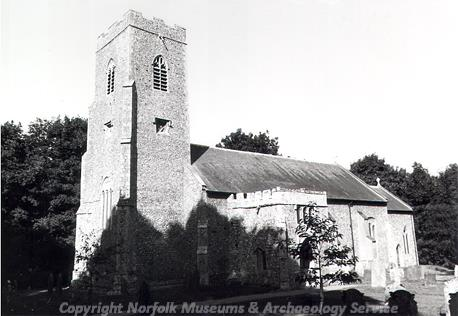 Photograph of All Saints' Church, Gimingham, a medieval church with later additions and alteration