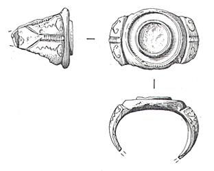 Drawing of a Roman ring from Hainford.