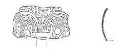 Drawing of an Early Saxon wrist clasp from the site of a possible Early Saxon cemetery in Hethersett.