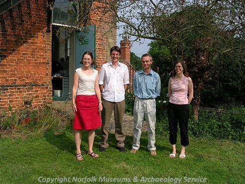The Norfolk Heritage Explorer team in the first week of the project