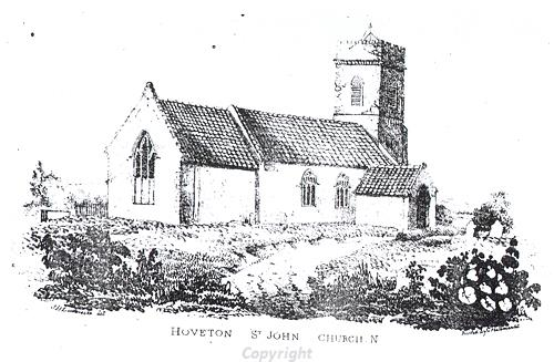Drawing of St John's Church, Hoveton.