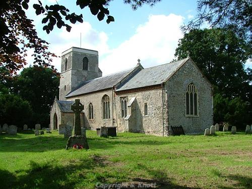 Photograph of St Mary's Church, Itteringham. This parish church dates to the 11th to 12th century. It was renovated in the mid 14th century when the tower was added. Photograph from www.norfolkchurches.co.uk