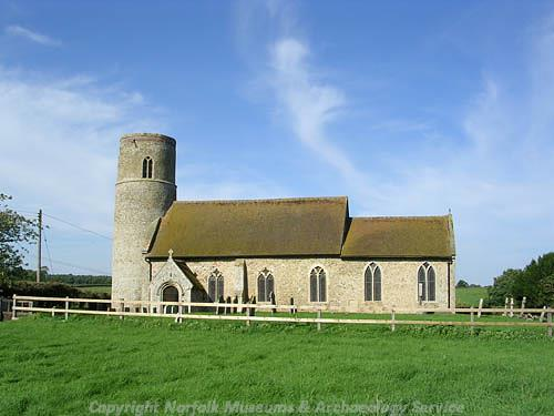 Photograph of All Saints' Church, Little Cressingham.