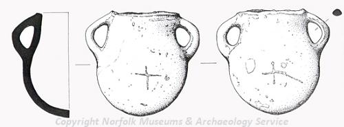 A possible vessel from a medieval christmatory found in Marsham