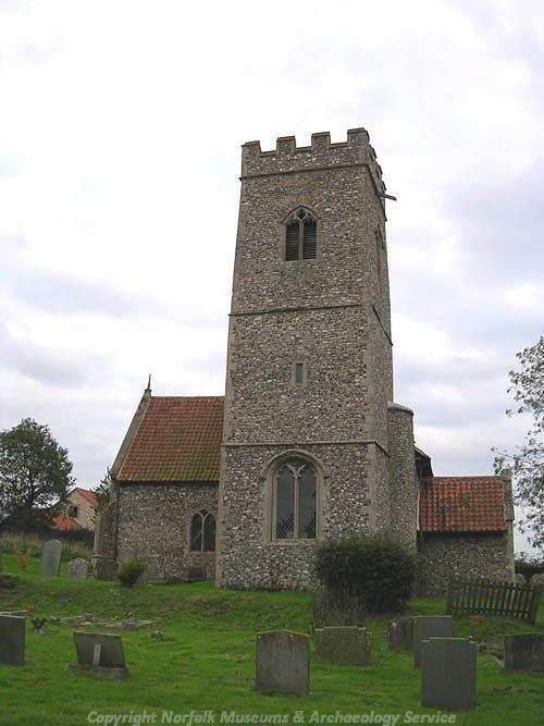 Photograph of St Peter's Church, Mattishall.