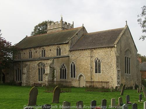 Photograph of St John's Church, Mileham.