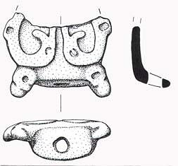 Drawing of part of a Late Saxon stirrup strap mount from Morston.