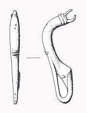 An Iron Age La Tene type II brooch from Narborough