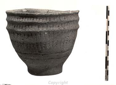 Photograph of a complete Neolithic vessel from Needham.