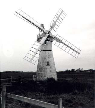 Thurne Dyke windpump. An early 19th century drainage pump which was extensively restored in the 20th century